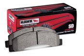 Image may not reflect your exact vehicle! Hawk® - SuperDuty Truck Front Brake Pads