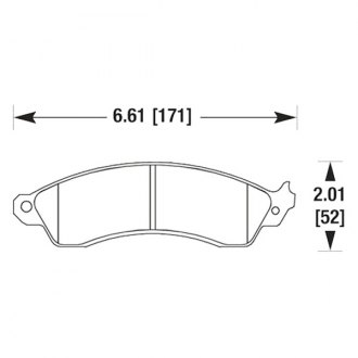 Hawk® - Autocross and Track Compound Front Brake Pads