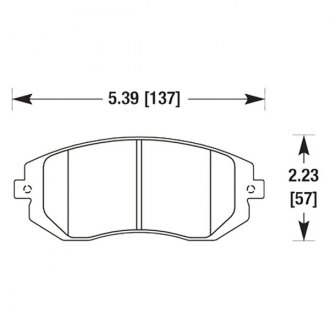 Hawk® - Performance Ceramic Front Brake Pads
