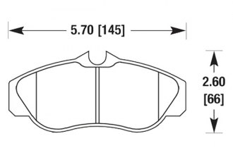 Hawk® HB469F.705 - High Performance Street Front Brake Pads
