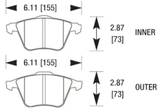 Hawk® HB515N.760 - Autocross and Track Compound Front Brake Pads