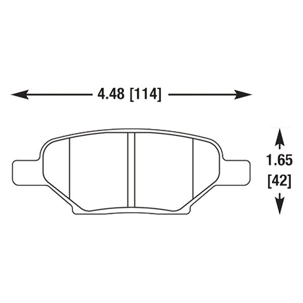 Hawk® - Autocross and Track Compound Rear Brake Pads