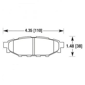 HAWK® - Performance Ceramic Rear Brake Pads