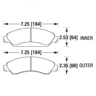 Hawk® - High Performance Street Front Brake Pads