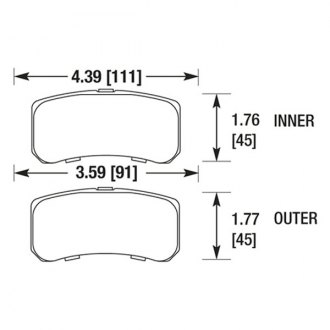 Hawk® - High Performance Street Rear Brake Pads