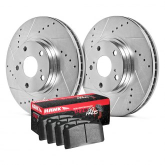 Hawk® - Sector 27 HPS 5.0 Drilled and Slotted Front Brake Kit