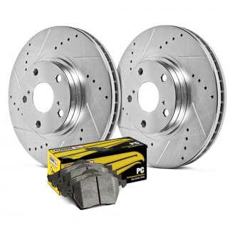 Hawk® - Sector 27 PC Drilled and Slotted Rear Brake Kit