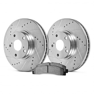 Hawk® - Sector 27 Drilled and Slotted Front Brake Kit