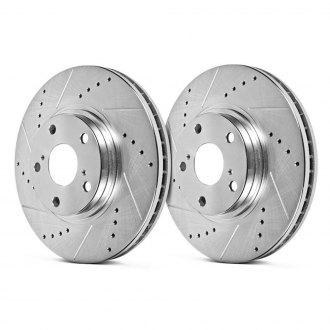 Hawk® - Sector 27 Drilled and Slotted Vented 1-Piece Front Brake Rotors