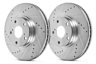 Hawk® - Sector 27 Drilled and Slotted Front Rotors