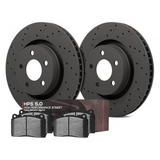 Hawk® - Talon® HPS 5.0 Drilled and Slotted Rear Brake Kit with High Performance Street 5.0 Pads