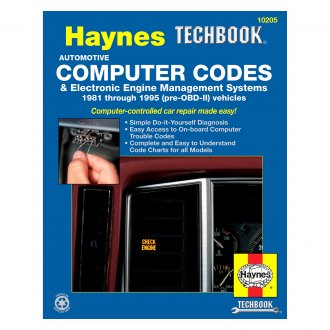 Haynes Manuals® - Automotive Computer Codes and Electronic Engine Management Systems (81-95) Techbook