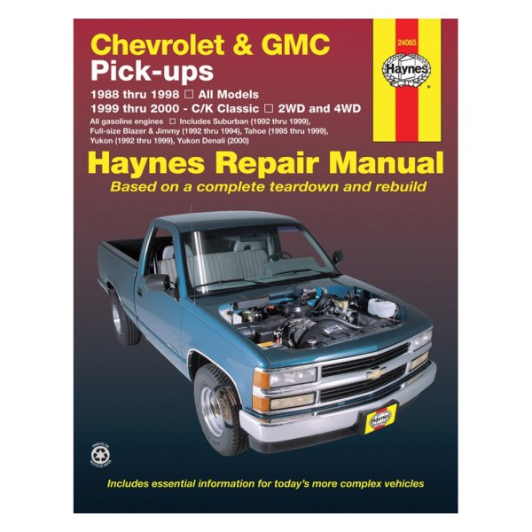 haynes manuals chevy c1500 suburban c2500 suburban k1500 rh carid com 1999 chevy suburban repair manual pdf 1990 Chevy Suburban