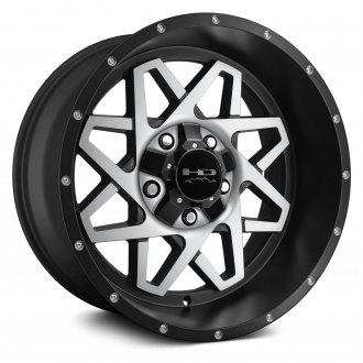 HD® - GRIDLOCK Satin Black with Machined Face
