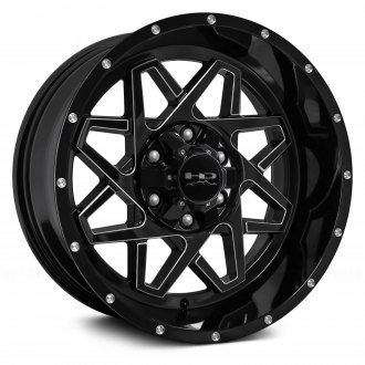 HD® - GRIDLOCK Gloss Black with Milled Accents
