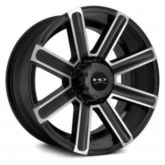 HD Off-Road® - LAREDO Satin Black with Machined Face