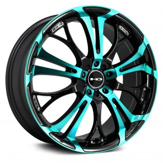 HD® - SPINOUT Gloss Black with Teal Face