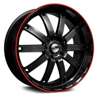 HD® - AUTOBAHN Black with Red Pinstripe