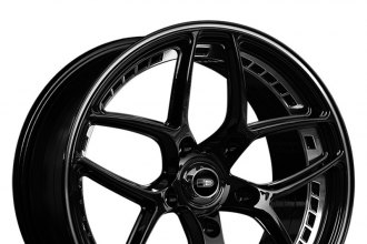 "HD® - OVERDRIVE Gloss Black with Machined Rivet and Stripe (18"" x 8.5"", +36 Offset, 5x120.65 Bolt Pattern, 74.1mm Hub)"