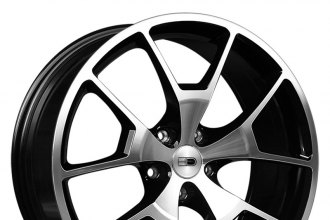 "HD® - RADER Gloss Black with Machined Face (20"" x 8"", +42 Offset, 5x114.3 Bolt Pattern, 73.1mm Hub)"