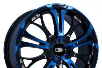 "HD® - SPINOUT Gloss Black with Blue Face (17"" x 7"", +40 Offset, 4x100 Bolt Pattern, 73.1mm Hub)"