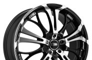 "HD® - SPINOUT Gloss Black with Machined Face (15"" x 6.5"", +40 Offset, 5x100 Bolt Pattern, 73.1mm Hub)"