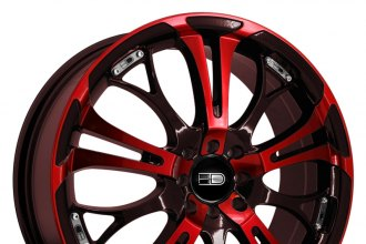 "HD® - SPINOUT Gloss Black with Red Face (18"" x 7.5"", +40 Offset, 4x100 Bolt Pattern, 73.1mm Hub)"