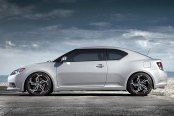 HD® - SWITCH Black with Machined Face and Red Undercut Accents on Scion tC