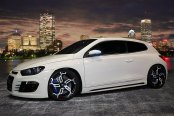 HD® - SWITCH Black with Machined Face and Red Undercut Accents on Volkswagen Scirocco