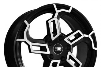 "HD® - SWITCH Satin Black with Machined Face (18"" x 7.5"", +42 Offset, 5x114.3 Bolt Pattern, 73.1mm Hub)"