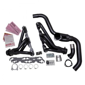 Hedman Hedders® - Standard Duty Mild Steel Black MAXX Satin Black Ceramic-Metallic Mid-Length Tube Exhaust Headers
