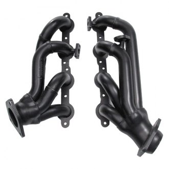 Hedman Hedders® - Standard Duty Mild Steel Black MAXX Satin Black Ceramic-Metallic Short Tube Exhaust Headers