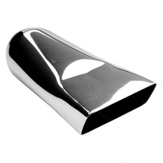 "Hedman Hedders® - HotTip Rectangular Angle Cut Chrome Exhaust Tip (9"" Length)"