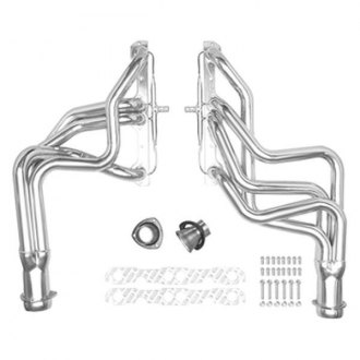 Hedman Hedders® - Elite Ultra-Duty Mild Steel Silver Matte Ceramic-Metallic Exhaust Headers