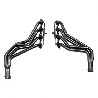 Hedman Hedders® - Elite Ultra-Duty Mild Steel Silver Matte Ceramic-Metallic Long Tube Exhaust Headers