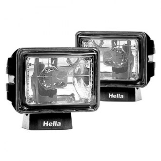 Hella® - Micro FF Black Rectangular Fog Lights Kit