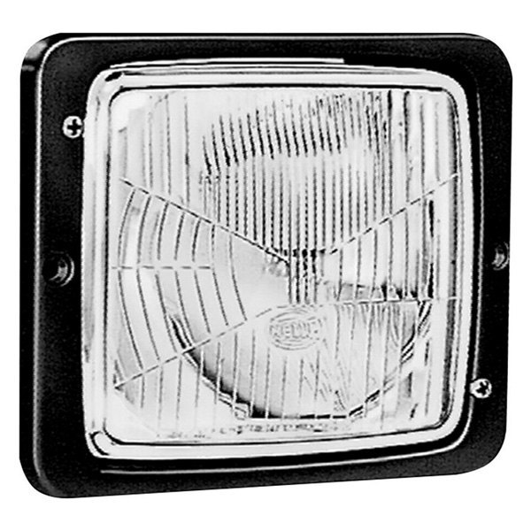 "Hella® - 4""x6"" 55W Square Chrome Housing Driving Beam Headlight with Position Lamp"