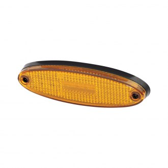 Hella® - 7943 Series 150mm Oval Gray/Amber LED Side Marker Light