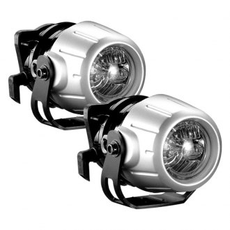 "Hella® - Micro DE Series Premium SAE/ECE Flush Mount 2.6"" 2x35W Round Silver/Black Housing Driving Beam Xenon/HID Modular Lights"