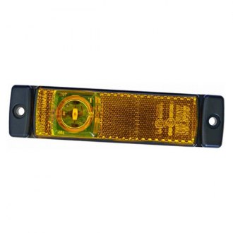 Hella® - 8645 Series 130mm Rectangular Black/Amber LED Side Marker Light
