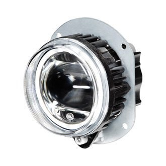 Hella® - 90mm Round Halo Projector LED Fog Light Module with DRL/Parking Light