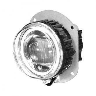 Hella® - L4060 90mm High-Beam Round Chrome Halo Projector LED Headlight Module with DRL/Parking Light