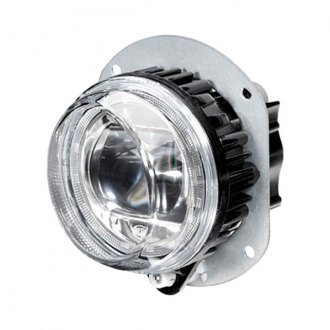 Hella® - Passenger Side 90mm Round Projector LED Fog Light Module With Turn Signal Light
