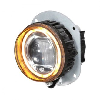 Hella® - L4060 90mm High-Beam Round Chrome Halo Projector LED Headlight Module