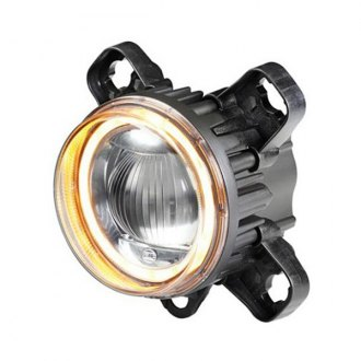"Hella® - L4060 3.5"" High Beam Round Halo LED Retrofit Projector with Turn Signal Light"