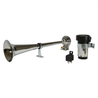 Hella® - Single Tone 12 V Chrome Air Horn Kit