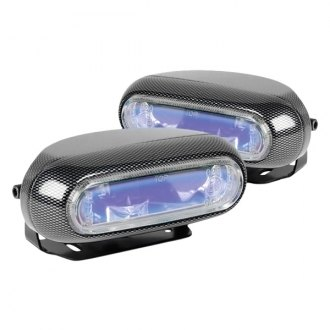 "Hella® - 1250 Optilux™ 5.7x2.4"" Rectangular Blue Fog Lights"