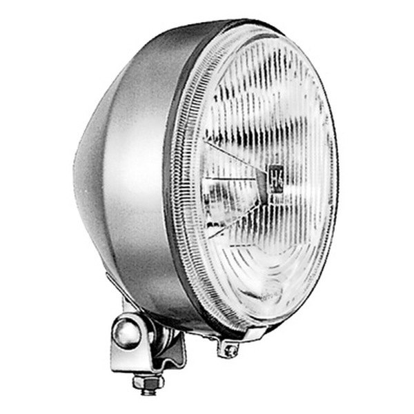 "HELLA® - 6.8"" Silver Round High/Low Beam Headlights with Clear Lens"