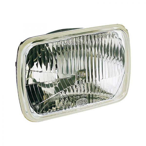 "HELLA® - 7.4""x5.1"" Rectangle High/Low Beam Headlights Kit with Clear Lens"