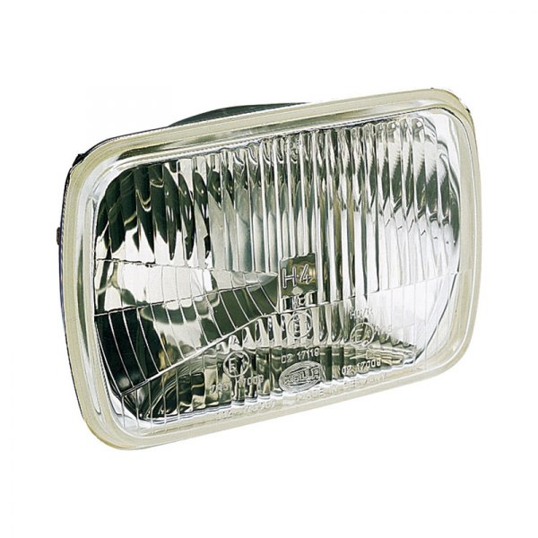 "HELLA® - 7.4""x5.1"" Rectangle High/Low Beam Headlights Kit with Clear Lens and Fixed Mounting, Position Lamp"